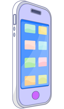 touchpad: Illustration of a smart phone