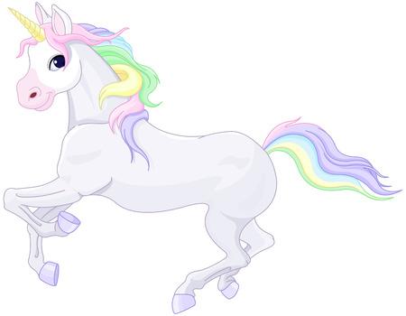 Illustratie van heel schattig unicorn Stock Illustratie