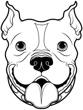 Illustration der Comic-Bulldogge Standard-Bild - 37375720
