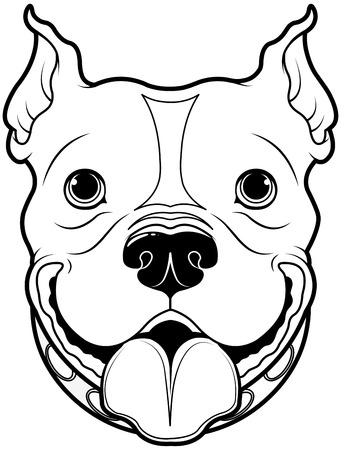 bull dog: Illustration of cartoon Bulldog