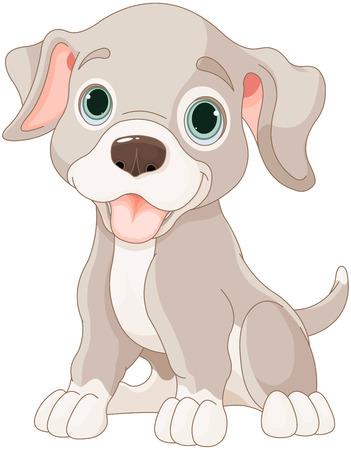 Ilustração do filhote de cachorro dos desenhos animados