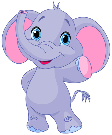 Illustration of very cute elephant Illustration