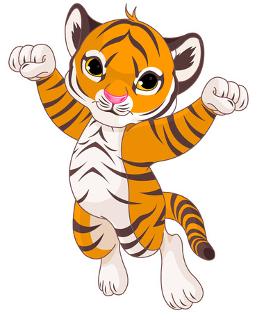 Illustration of very cute tiger