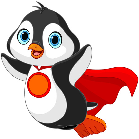 Illustration of Super Hero Penguin