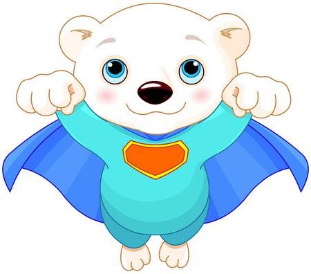 streaking: Illustration of Super Hero Polar Bear