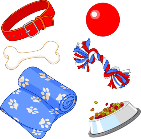 Some cute stuff for a lovely puppy Vettoriali
