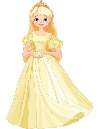 Prinses maakt hartvorm met haar vingers