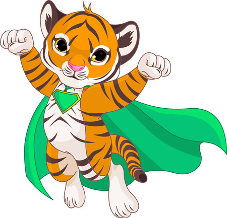 Illustratie van Super Hero Tiger Stock Illustratie