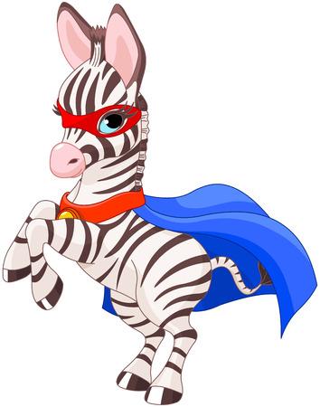 foal: Illustration of Super Hero Zebra Foal Illustration