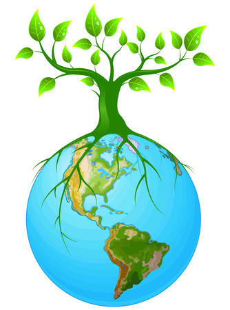 Illustration of symbol of clear Earth Vector