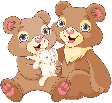 baby drawing: Illustration of a bear family