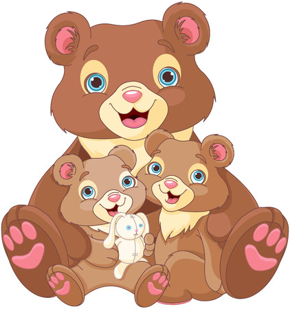 ourson: Illustration de la famille de l'ours Illustration