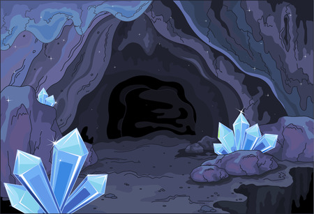 Illustration of a fairy cave Çizim