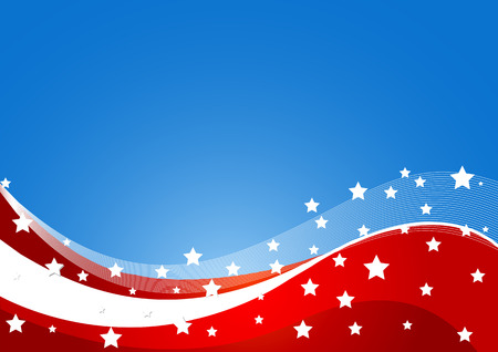 fourth of july: USA flag theme background with place for your copytext