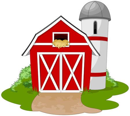 rancho: Ilustración de una granja