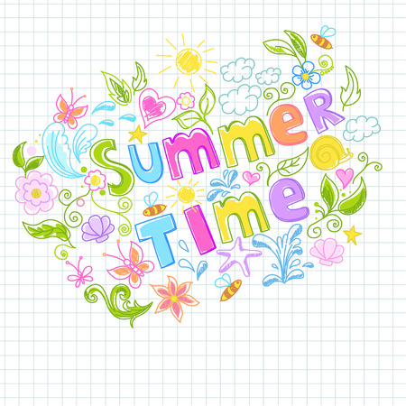 Illustration of beautiful summer design Vector