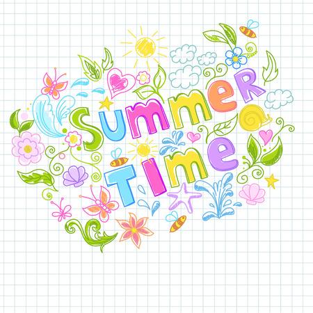Illustration of beautiful summer design Vector