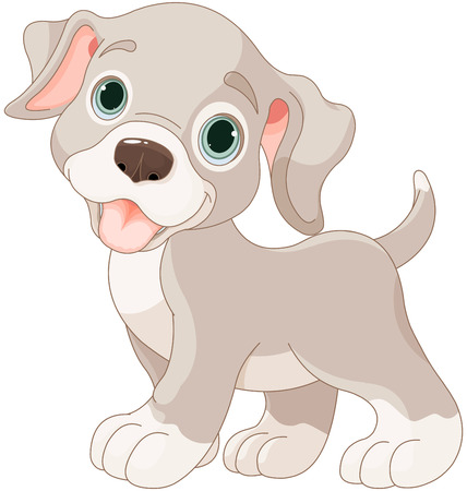 Illustratie van de cartoon puppy Stock Illustratie