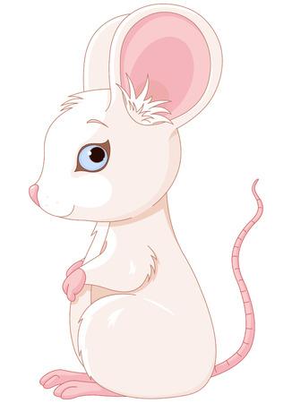raton: Ilustración de muy lindo del ratón Vectores