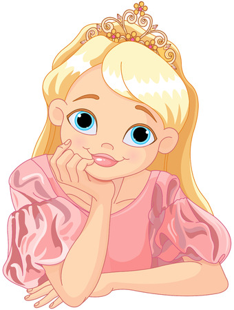 Illustration of beautiful princess are thinking