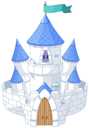 princess castle: Illustration of magic fairy tale princess castle