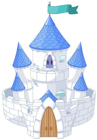 castillos de princesas: Ilustración de hadas mágico castillo de la princesa de cuento