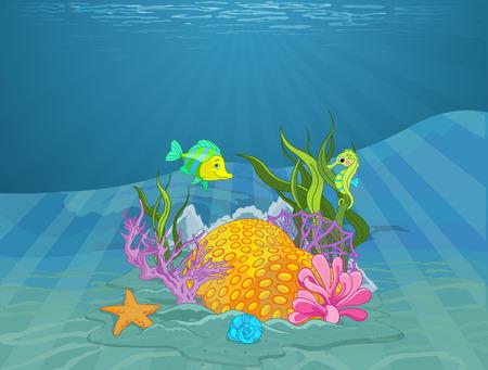 fond marin: Illustration de merveilleux fonds marins