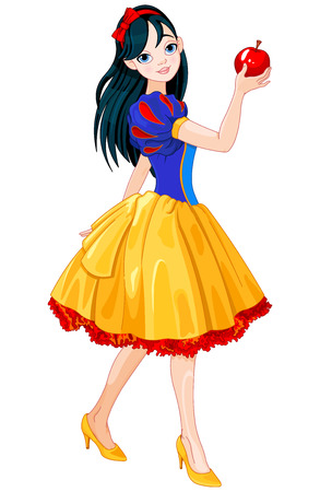 Pretty girl wearing Snow White costume