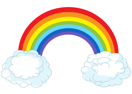 Illustration of rainbow in pastel colors Zdjęcie Seryjne - 41175052