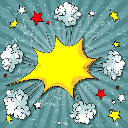 Illustration d'éléments qui explosent de bande dessinée Banque d'images - 42070407