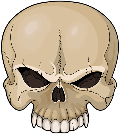 Illustratie van een enge schedel Stock Illustratie