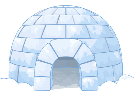 cold: Illustration of an igloo Illustration