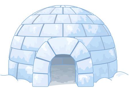 frio: Ilustración de un iglú Vectores
