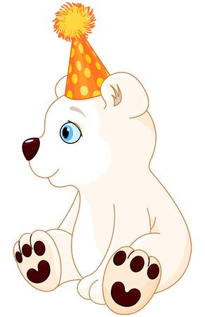 curfew: Illustration of polar bear celebrating