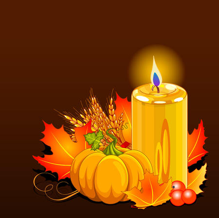 Illustration of Thanksgiving Day still life