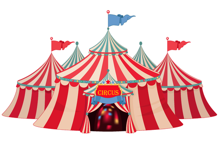 marquee: Illustration of circus marquee