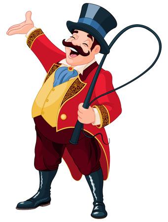 Illustratie van sierlijke circusdirecteur Stock Illustratie