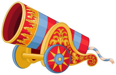 Illustratie van de grote kanonnen