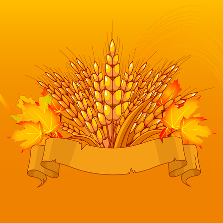 harvest background: Harvest background with place for your text Illustration