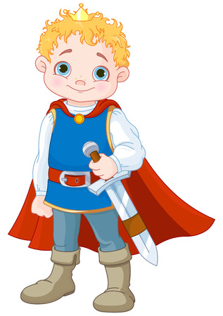 Illustration of cute little prince