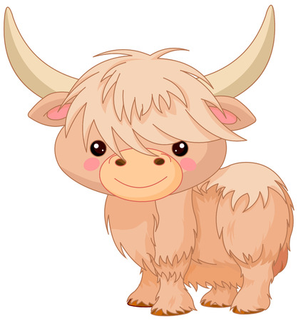 Illustration of cute yak Illustration