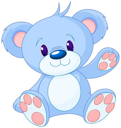 oso caricatura: Ilustración de lindo oso de juguete Vectores
