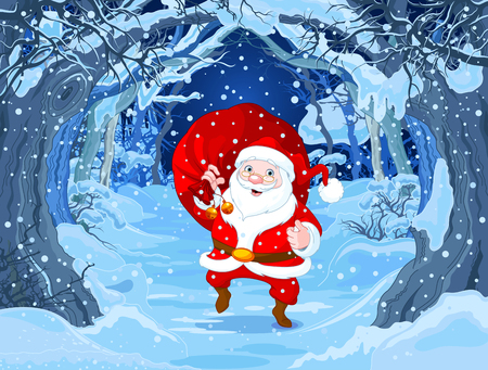 sacks: Illustration of cute Santa Claus Illustration