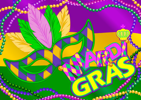 Mardi Gras mask design background
