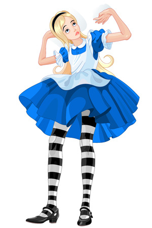 wonderland: Illustration of Alice from Wonderland