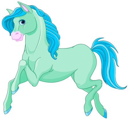 royalty free images: Illustration of magic beautiful magic horse