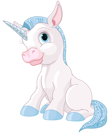 cartoons animals: Illustration of cute magic unicorn