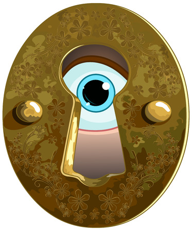 key hole: Illustration of Wonderland true the key hole