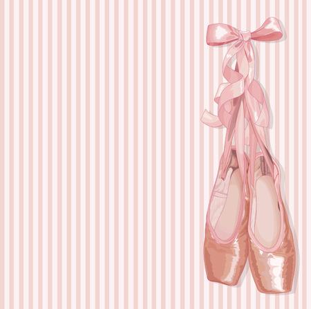 月並みなバレエ pointes 靴のペアのイラスト