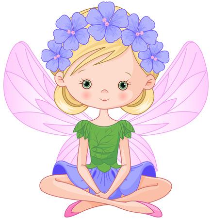 Illustration de voler belle fée du printemps Banque d'images - 54649546